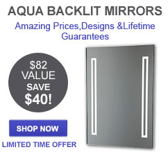 Aqua Back-lit Mirror - Bathroom Accessory of the Month